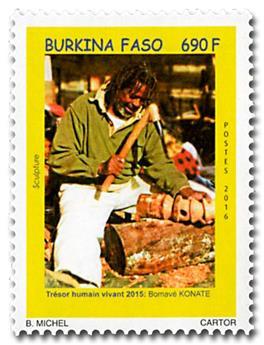 n° 1427 - Timbre BURKINA Poste