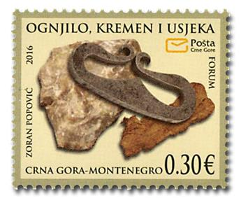 n° 396/397 - Timbre MONTENEGRO Poste
