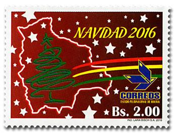 n° 1597/1598 - Timbre BOLIVIE Poste