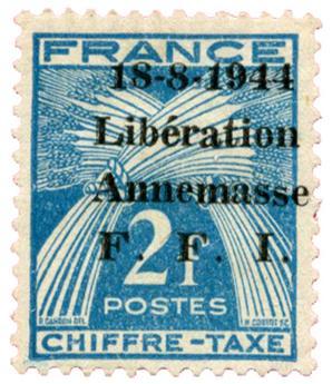 n°17T* (MAYER) - Timbre FRANCE Libération (ANNEMASSE)