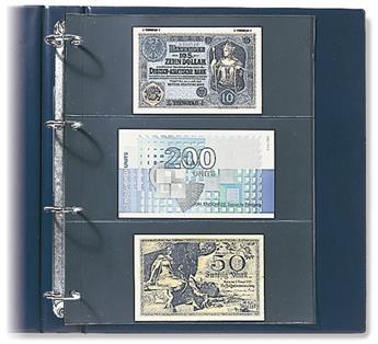 """FEUILLES """"COMPACT A4"""" (6 POCHES ETIQUETTES DE VIN : 220x95mm) - SAFE® (x10)"""