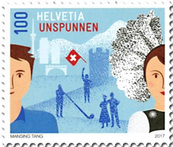 n° 2413 - Timbre SUISSE Poste