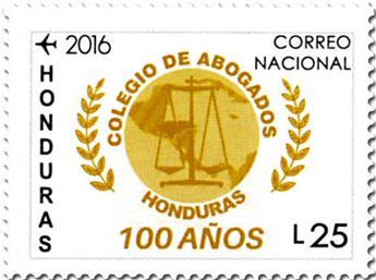 n° 1433 - Timbre HONDURAS Poste aérienne