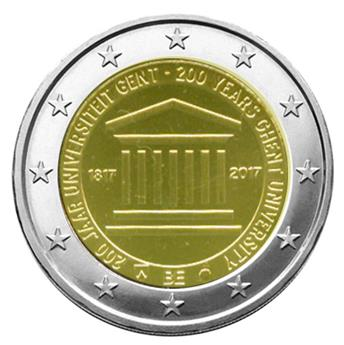 BU : 2 EURO COMMEMORATIVE 2017 : BELGIQUE - Université de Gand (Version francophone)
