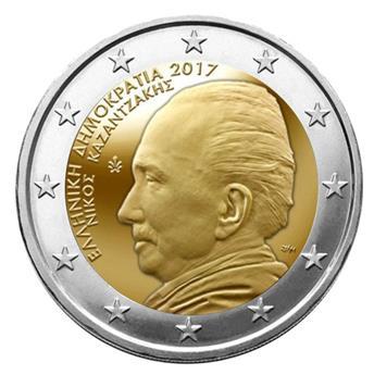 2 EURO COMMEMORATIVE 2017 : GRECE (60ème anniversaire de la mort de Nikos Kazantzakis)