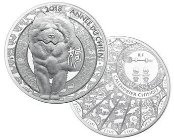 10 EUROS ARGENT - ANNEE DU CHIEN 2018