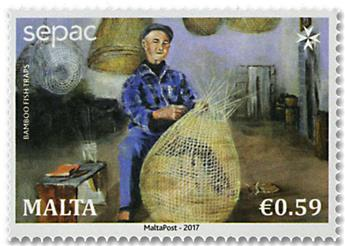 n° 1875 - Timbre MALTE Poste