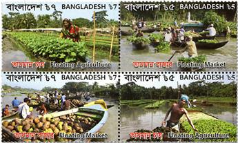 n° 1136/1139 - Timbre BANGLADESH Poste