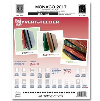 MONACO SC : 2017 (Jeu avec pochettes)