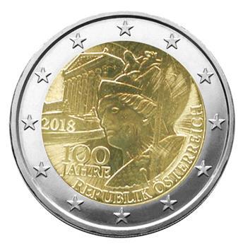 2 EURO COMMEMORATIVE 2018 : AUTRICHE (100 ans République Autrichienne)