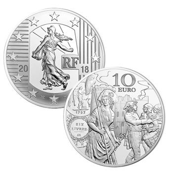 BE : 10 EUROS ARGENT - FRANCE 2018 - SEMEUSE