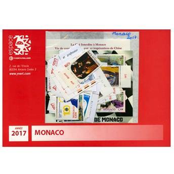 n° 3062/3112 - Timbre Monaco Année complète (2017)