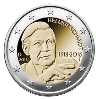 2 EURO COMMEMORATIVE 2018 : ALLEMAGNE (HELMUT SCHMIDT)