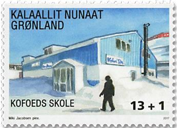 n°737 - Timbre GROENLAND Poste