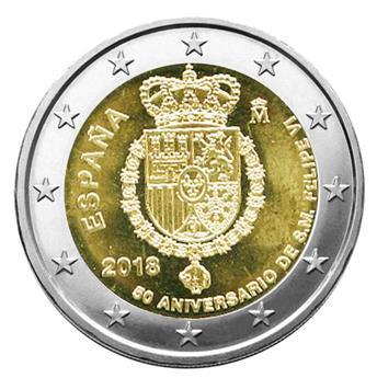 2 EURO COMMEMORATIVE 2018 : ESPAGNE (50ème anniversaire du roi Felipe VI)