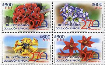 n° 2125/2128 - Timbre CHILI Poste