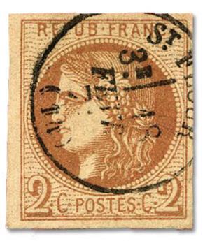 n°40B obl. TB - Timbre FRANCE Poste