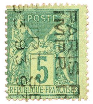 France : Préo n°15 obl. TB. 5 c. vert.