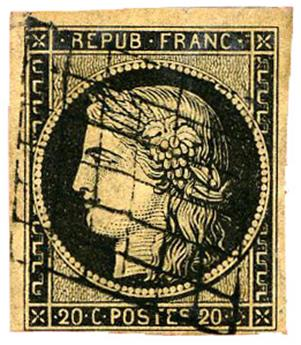 n°3 obl. TB - Timbre FRANCE Poste