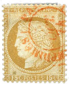 n°55 obl. TB - Timbre FRANCE Poste