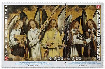 n° 1401/1402 - Timbre ORDRE de MALTE Poste