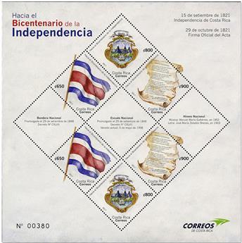 n° 59 - Timbre COSTA RICA Blocs et feuillets
