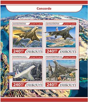 n° 1460/1463 - Timbre DJIBOUTI Poste