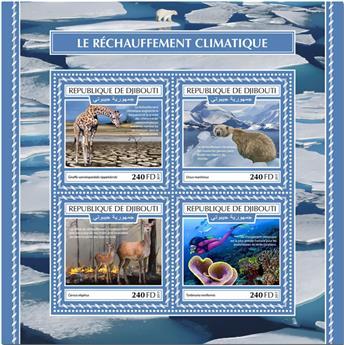 n° 1820/1823 - Timbre DJIBOUTI Poste