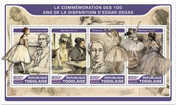 n° 5614/5617 - Timbre TOGO  Poste