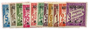 n°1/11* - Timbre CONGO Taxe