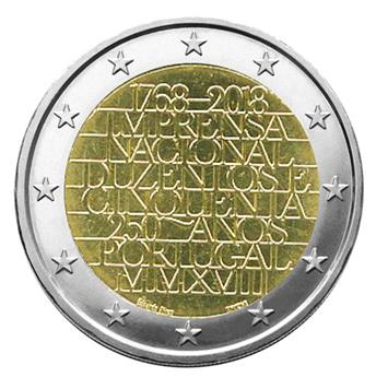 2 EURO COMMEMORATIVE 2018 : PORTUGAL (250ème anniversaire de l´imprimerie nationale)