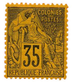 n°56* - Timbre COLONIES FRANCAISES Poste