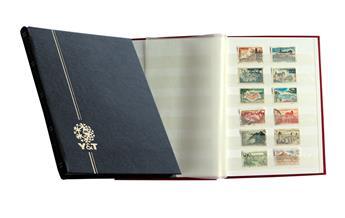 PERFECTA : Classeur fixe pour timbres (Petit modèle-Pages Blanches-16p. Bleu)