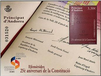 n° F453 - Timbre ANDORRE ESPAGNOL Poste