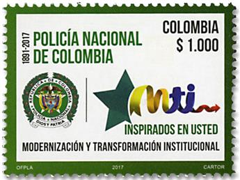 n° 1853 - Timbre COLOMBIE Poste
