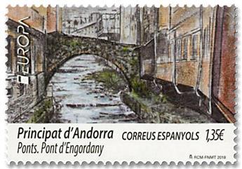 n° 455 - Timbre ANDORRE ESPAGNOL Poste (EUROPA)