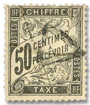 n°20 obl. B - Timbre FRANCE Taxe