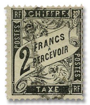 n°23 obl. B/TB - Timbre FRANCE Taxe