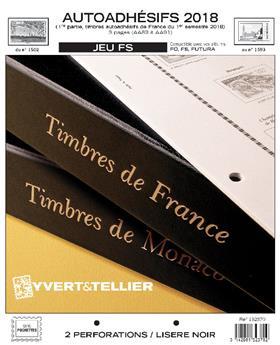 FRANCE AUTOADHESIFS FS : 2018- 1ER SEMESTRE (jeux sans pochettes)