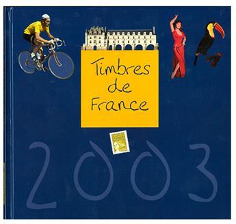 LE LIVRE DES TIMBRE DE L´ANNEE 2003