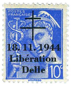 n° 1M** (MAYER) - Timbre France Libération (DELLE)