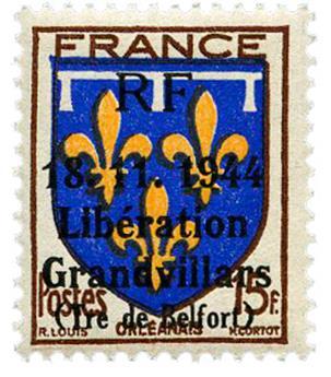 n° 22C** (MAYER) - Timbre France Libération (GRANDVILLARS)