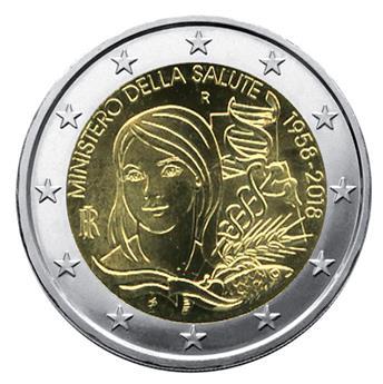 2 EURO COMMEMORATIVE 2018 : ITALIE (60 ans du Ministère de la Santé)