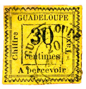 n°10 obl. - Timbre GUADELOUPE Poste