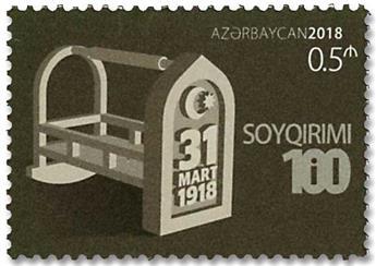 n° 1105A - Timbre AZERBAIDJAN Poste