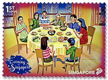 n° 2271/2276 - Timbre SINGAPOUR Poste