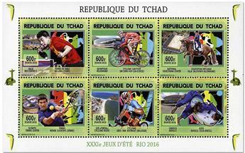 n° 1786AA/1786AF et 1786AG/1786AM - Timbre TCHAD Poste
