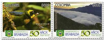 n° 1808/1809 - Timbre COLOMBIE Poste