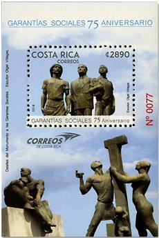 n° 66 - Timbre COSTA RICA Blocs et feuillets