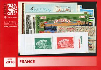 n° 5198/5290  - Timbre France Année complète  (2018)